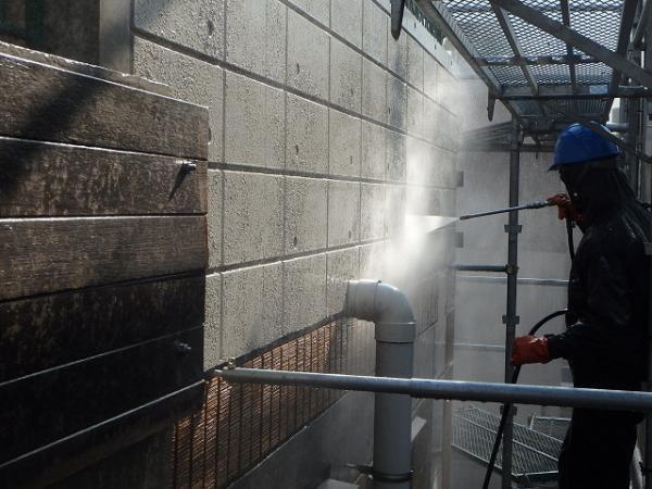 (10)外壁高圧洗浄2
