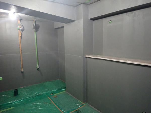 (2)トイレ壁塗装下塗り1
