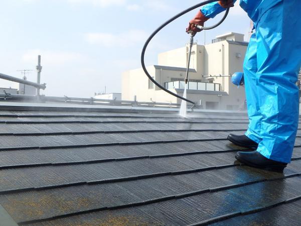 (5)屋根廻り高圧洗浄