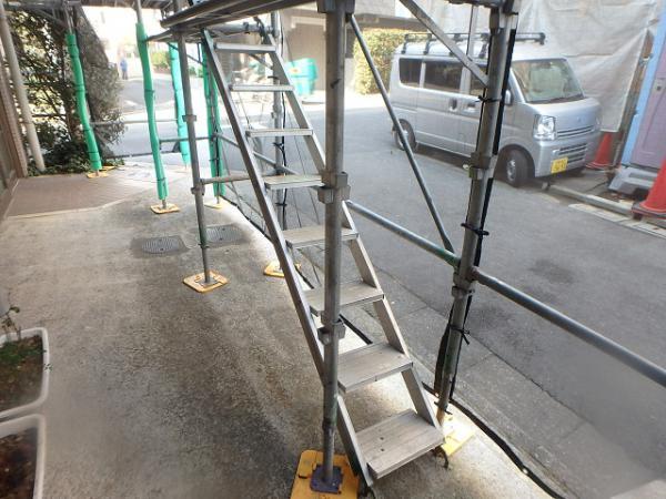(5)足場昇降階段設置