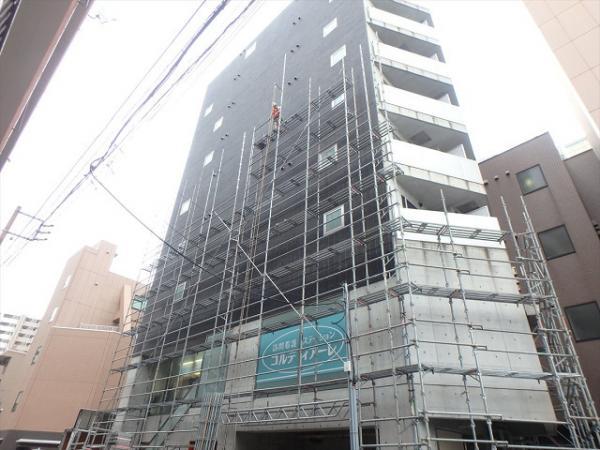(4) 建物正面足場立上げ2