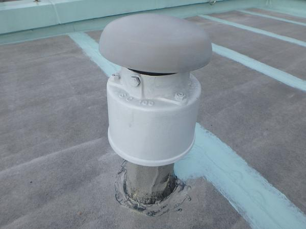 (7) 屋上臭気筒塗装