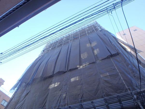 (2) 仮設足場シート撤去2