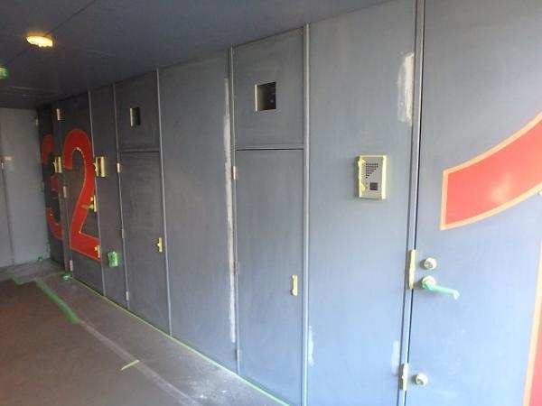 (8) 廊下ケレン掛け、下地補修