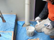 9.中庭竪樋塗装