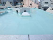 5.屋上ウレタン防水塗装1層目3