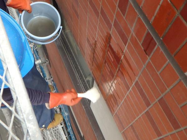 (13)外壁エフロ薬品洗浄1