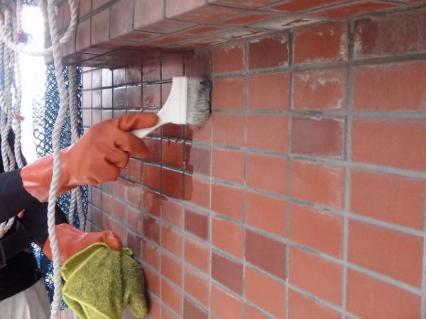 (14)外壁エフロ薬品洗浄2