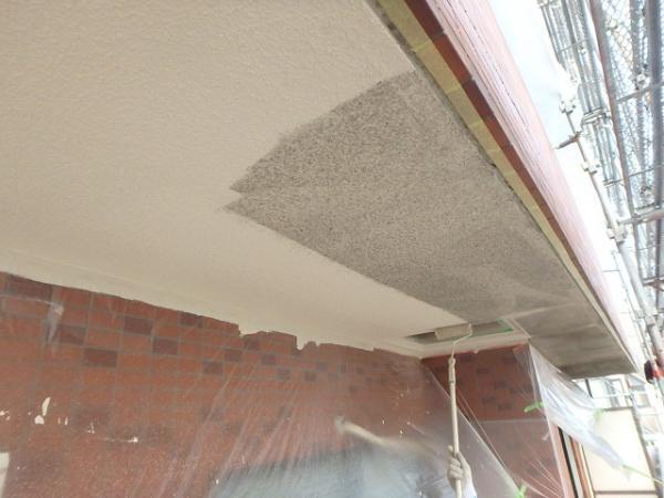 (1) ベランダ天井塗装1