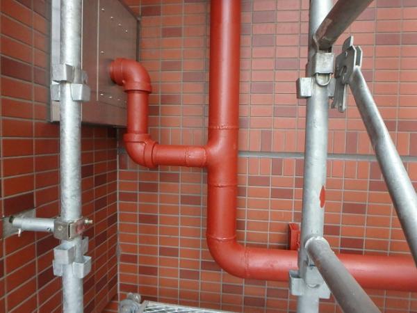 (12)連結送水管錆止め塗装