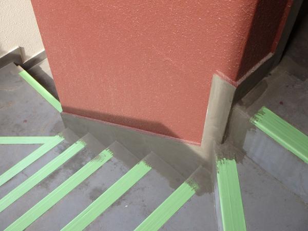 (7)階段床防水下地処理1
