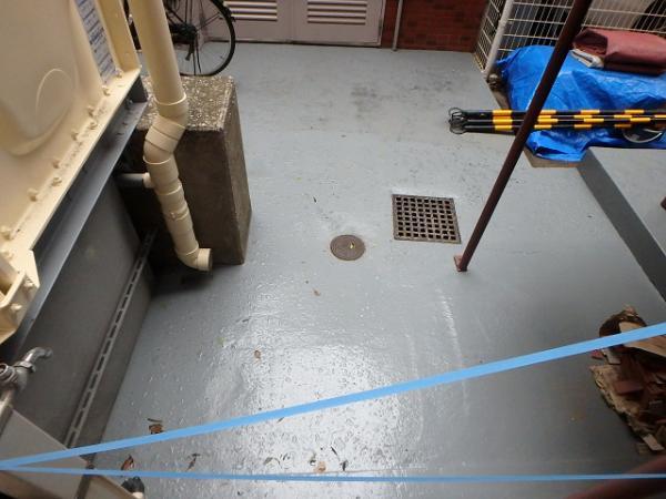 (8)受水槽まわり床防水処理