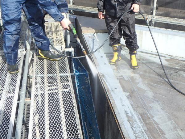 (1) 屋上防水廻り高圧洗浄