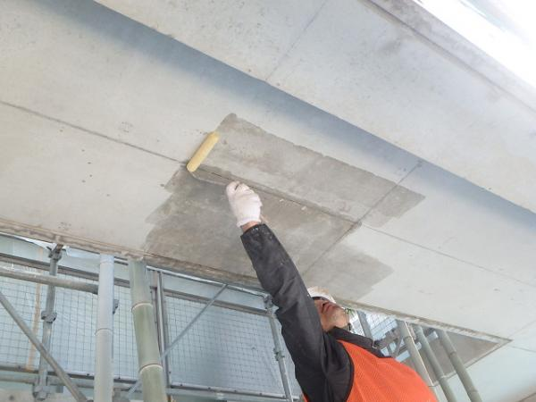 (10) 1階天井 塗装前シーラー塗布