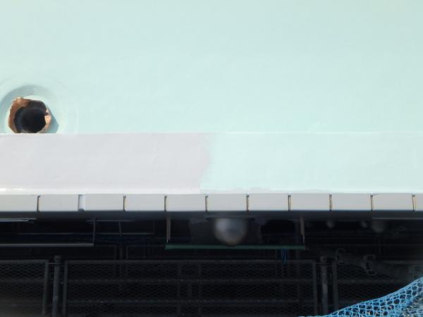 (6) 屋上防水 立上りトップコート仕上げ