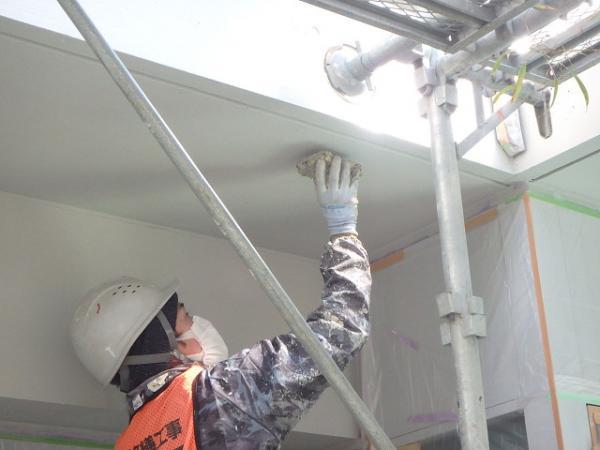 (7) ベランダ天井塗装仕上げ