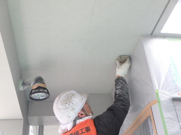 (8) 2階天井塗装仕上げ