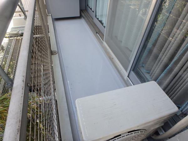 (8) 建物左面ベランダ防水完了2