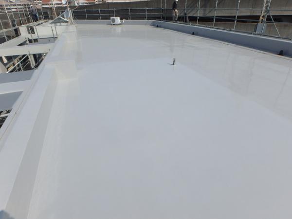 (9) 屋上工事完了