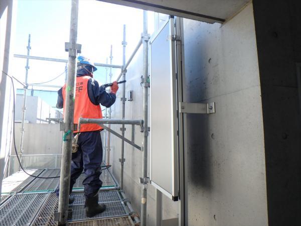(1) 外壁高圧洗浄1