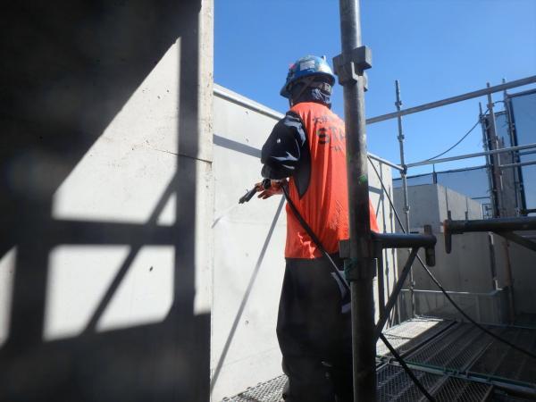 (2)外壁高圧洗浄2