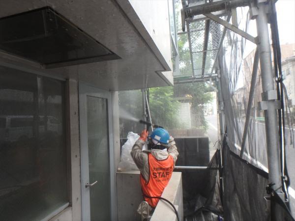 (4)外壁高圧洗浄4