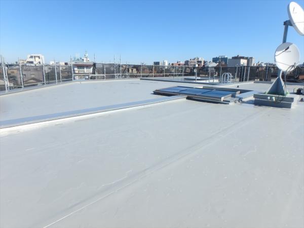 (2)屋上防水シート施工2