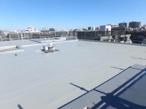 (3)屋上防水シート施工3