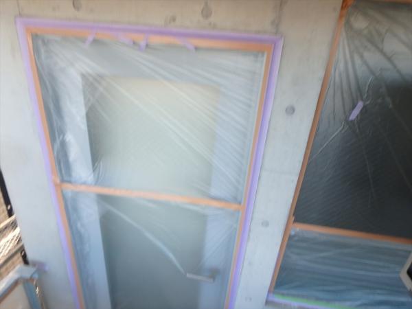 (7)外壁塗装工事養生1