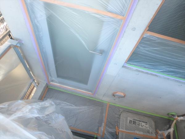 (8)外壁塗装工事養生2