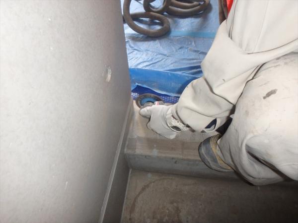 (6)階段タイル貼り工事2
