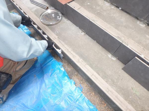(8)階段タイル貼り工事4