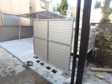4.貯水槽前フェンス設置