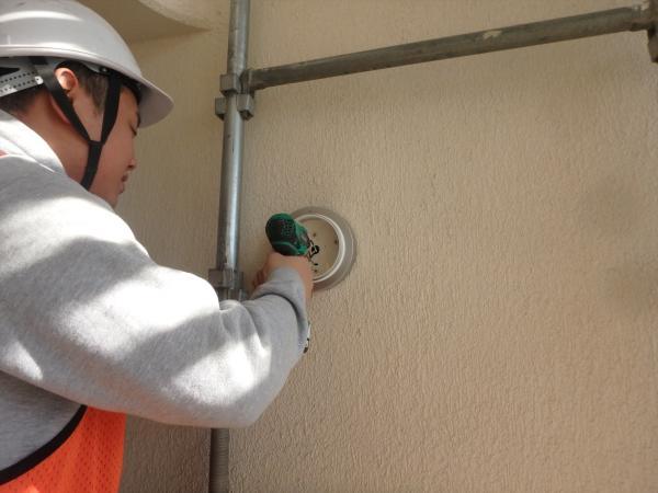 (1) 階段室吹き抜け照明交換工事1
