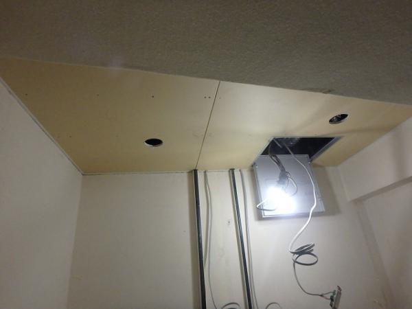 (12)トイレ天井ボード貼り2
