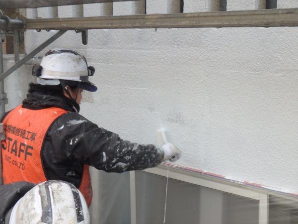 (12)南面外壁塗装作業2