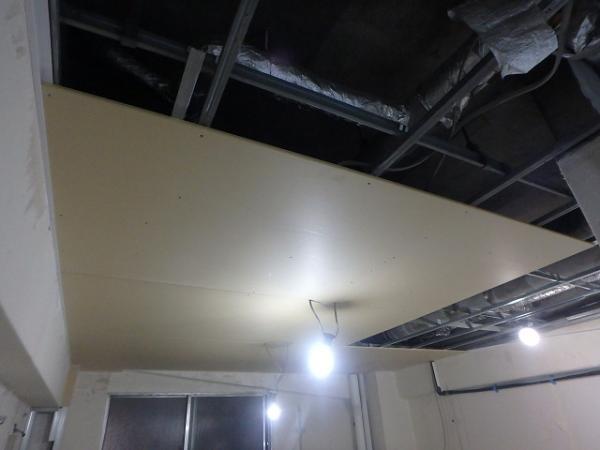 (13)トイレ天井ボード貼り3