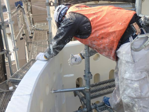 (14)南面外壁アーチ部内側塗装1