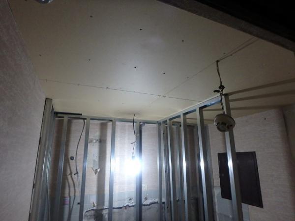 (14).給湯室天井ボード貼り