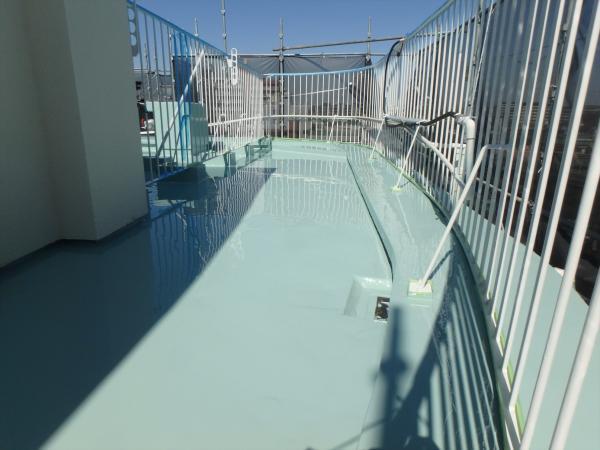 (3)屋上防水塗装2層目3