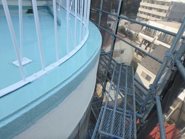 (3)東側バルコニー防水2層目3