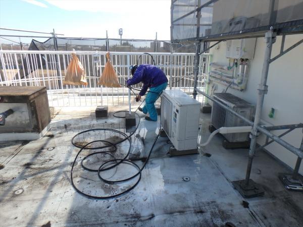 (3).防水面高圧洗浄1