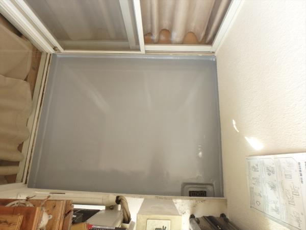 (3)3階ベランダ防水仕上げ