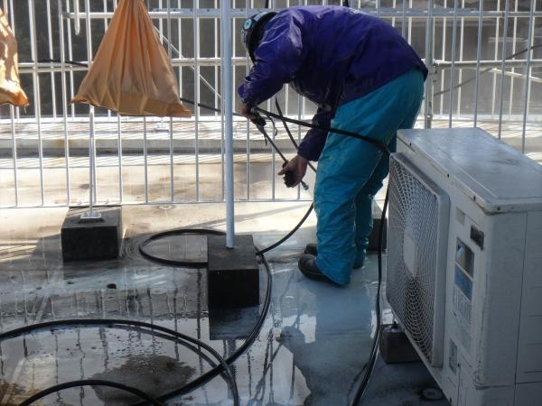 (4).防水面高圧洗浄2