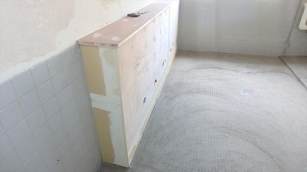 (6)女子トイレ下地組み1