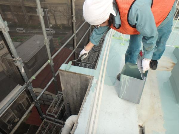 (7)最上階.防水塗装1層目3<br />