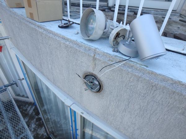 (7)外壁スポットライト交換工事1