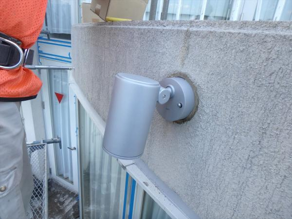 (8)外壁スポットライト交換工事2