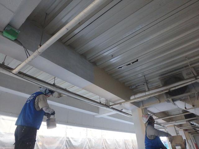 2.A棟 車路 天井梁・外壁塗装2