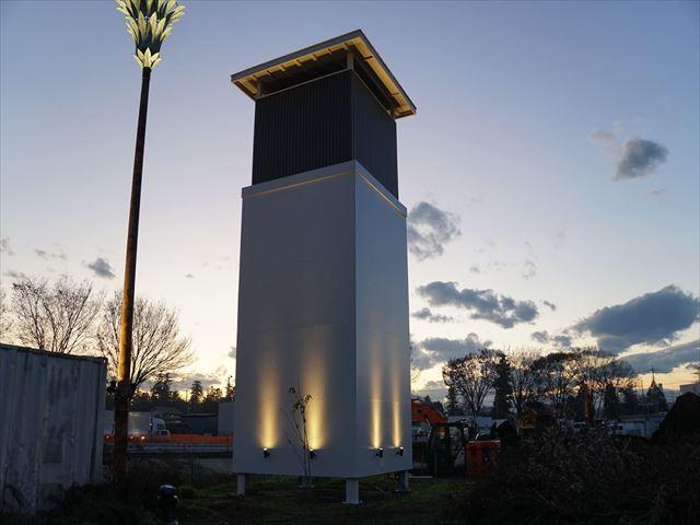 4.独立塔 塗装完了